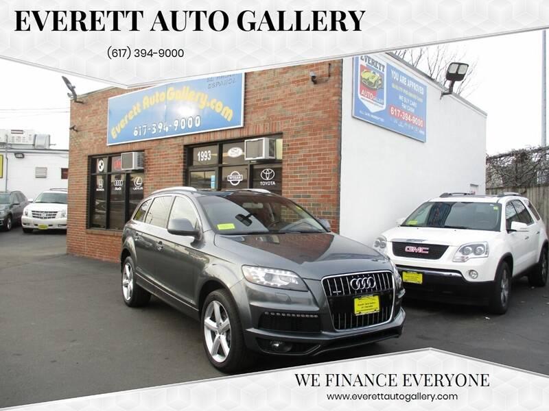 2014 Audi Q7 for sale at Everett Auto Gallery in Everett MA