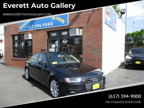 2013 Audi A4 for sale at Everett Auto Gallery in Everett MA