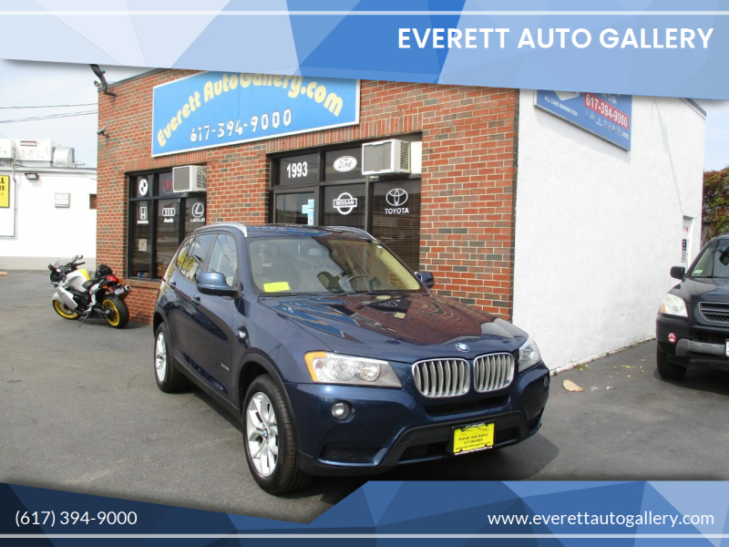 2013 BMW X3 for sale at Everett Auto Gallery in Everett MA