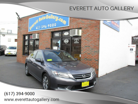 2015 Honda Accord for sale at Everett Auto Gallery in Everett MA