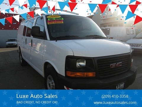 2003 GMC Savana Cargo 3500 for sale at Luxe Auto Sales in Modesto CA