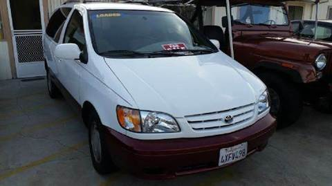 2002 Toyota Sienna for sale at A 1 MOTORS in Lomita CA