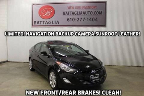 2013 Hyundai Elantra for sale at Battaglia Auto Sales in Plymouth Meeting PA