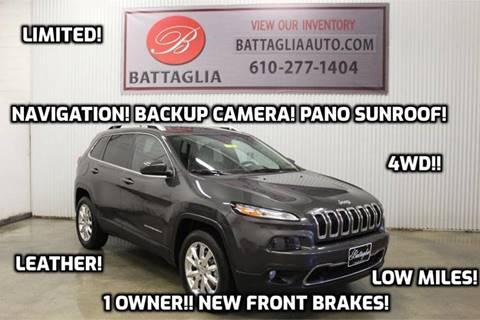 2014 Jeep Cherokee for sale at Battaglia Auto Sales in Plymouth Meeting PA