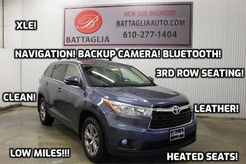 2015 Toyota Highlander for sale at Battaglia Auto Sales in Plymouth Meeting PA