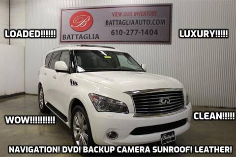 2012 Infiniti QX56 for sale at Battaglia Auto Sales in Plymouth Meeting PA
