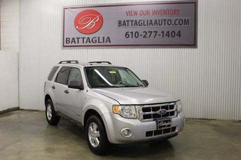 2008 Ford Escape for sale at Battaglia Auto Sales in Plymouth Meeting PA