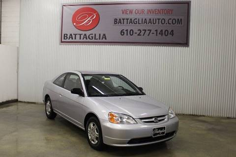 2002 Honda Civic for sale at Battaglia Auto Sales in Plymouth Meeting PA