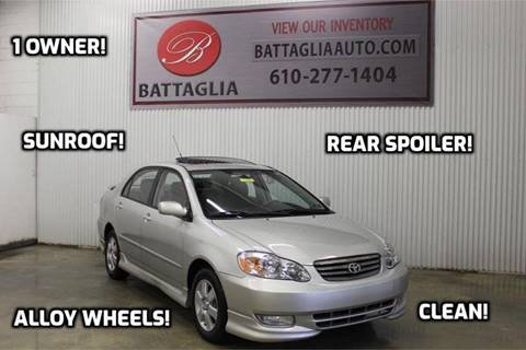 2004 Toyota Corolla for sale at Battaglia Auto Sales in Plymouth Meeting PA