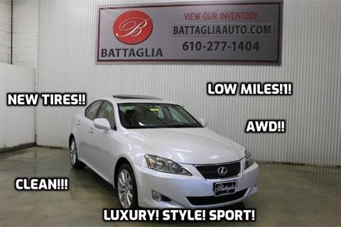 2006 Lexus IS 250 for sale at Battaglia Auto Sales in Plymouth Meeting PA