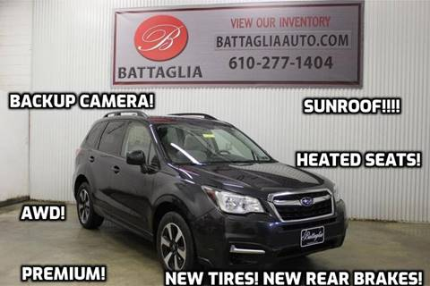2017 Subaru Forester for sale at Battaglia Auto Sales in Plymouth Meeting PA