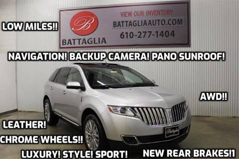 2011 Lincoln MKX for sale at Battaglia Auto Sales in Plymouth Meeting PA