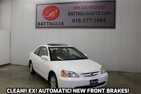 2003 Honda Civic for sale at Battaglia Auto Sales in Plymouth Meeting PA