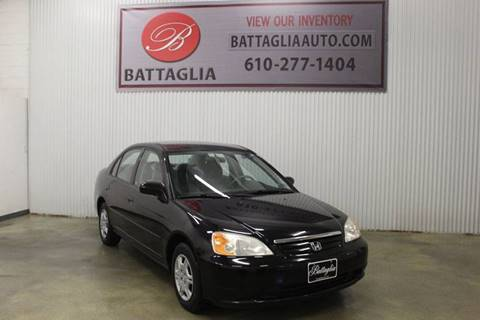2001 Honda Civic for sale at Battaglia Auto Sales in Plymouth Meeting PA
