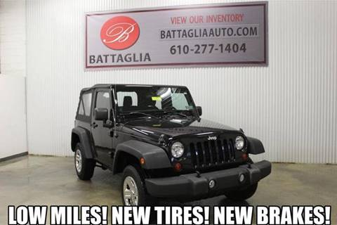 2013 Jeep Wrangler for sale at Battaglia Auto Sales in Plymouth Meeting PA