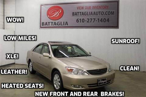 2003 Toyota Camry for sale at Battaglia Auto Sales in Plymouth Meeting PA