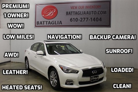 2015 Infiniti Q50 for sale at Battaglia Auto Sales in Plymouth Meeting PA