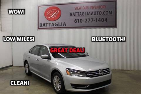 2014 Volkswagen Passat for sale at Battaglia Auto Sales in Plymouth Meeting PA