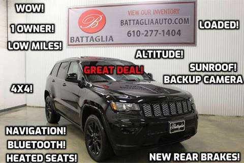 2017 Jeep Grand Cherokee for sale at Battaglia Auto Sales in Plymouth Meeting PA