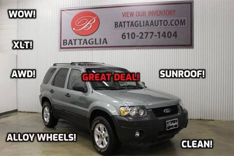 2007 Ford Escape for sale at Battaglia Auto Sales in Plymouth Meeting PA