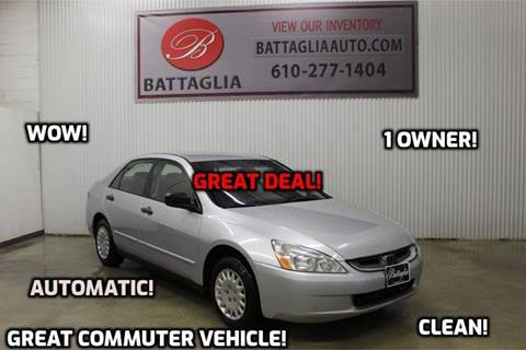 2003 Honda Accord for sale at Battaglia Auto Sales in Plymouth Meeting PA