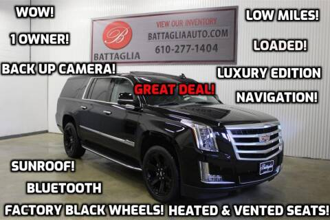 2016 Cadillac Escalade ESV for sale at Battaglia Auto Sales in Plymouth Meeting PA