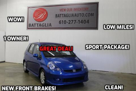 2008 Honda Fit for sale at Battaglia Auto Sales in Plymouth Meeting PA