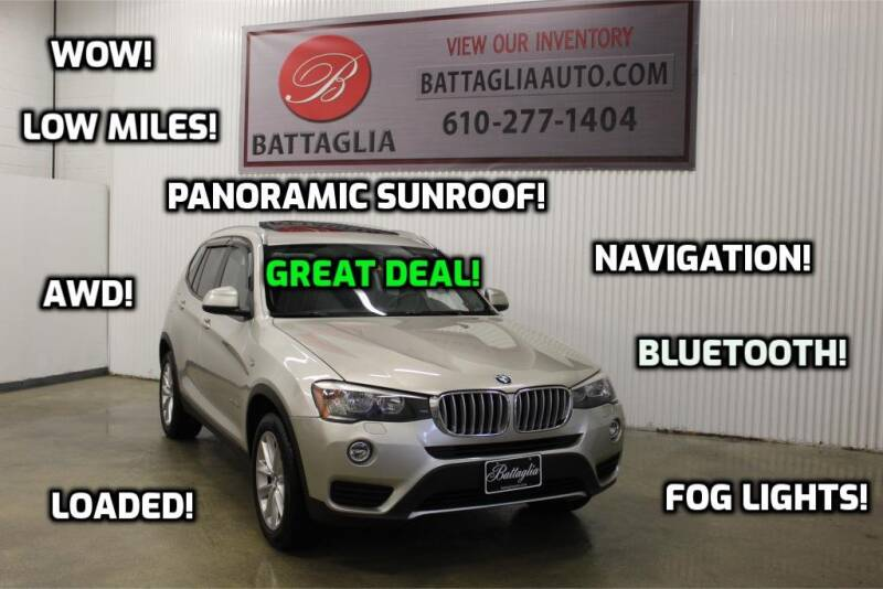 2015 BMW X3 for sale at Battaglia Auto Sales in Plymouth Meeting PA
