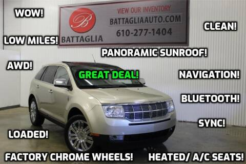 2010 Lincoln MKX for sale at Battaglia Auto Sales in Plymouth Meeting PA