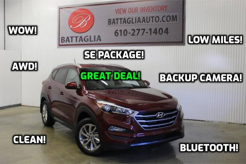 2016 Hyundai Tucson for sale at Battaglia Auto Sales in Plymouth Meeting PA