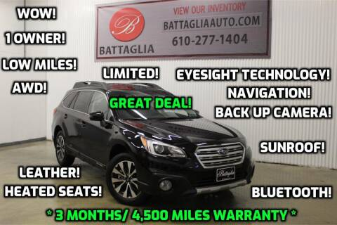 2017 Subaru Outback for sale at Battaglia Auto Sales in Plymouth Meeting PA