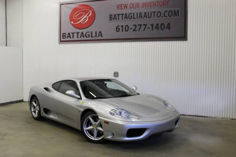 1999 Ferrari 360 Modena for sale at Battaglia Auto Sales in Plymouth Meeting PA
