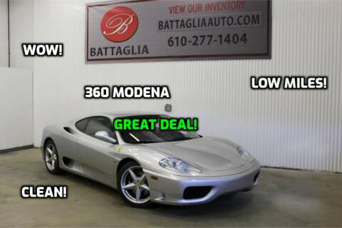 1999 Ferrari 360 Modena for sale at Battaglia Auto Sales in Plymouth Meeting PA