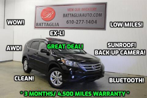 2012 Honda CR-V for sale at Battaglia Auto Sales in Plymouth Meeting PA