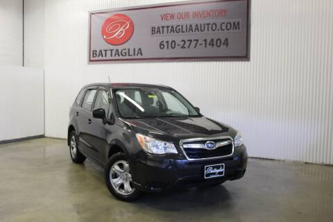 2014 Subaru Forester for sale at Battaglia Auto Sales in Plymouth Meeting PA