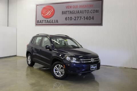 2016 Volkswagen Tiguan for sale at Battaglia Auto Sales in Plymouth Meeting PA