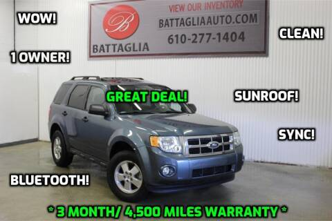 2011 Ford Escape for sale at Battaglia Auto Sales in Plymouth Meeting PA