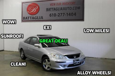 2004 Honda Civic for sale at Battaglia Auto Sales in Plymouth Meeting PA