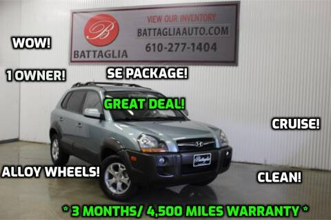 2009 Hyundai Tucson for sale at Battaglia Auto Sales in Plymouth Meeting PA