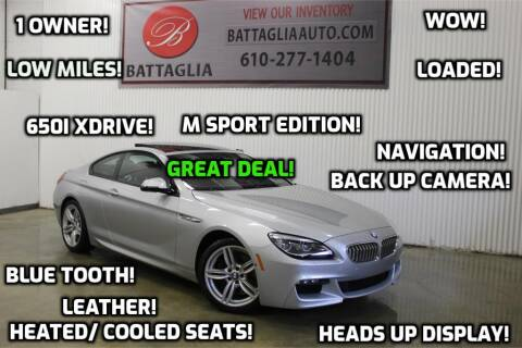 2016 BMW 6 Series for sale at Battaglia Auto Sales in Plymouth Meeting PA