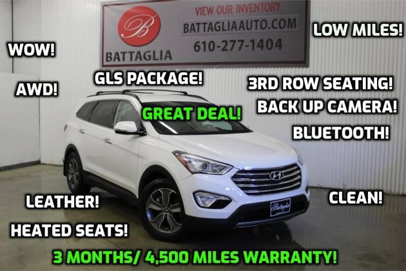 2014 Hyundai Santa Fe for sale at Battaglia Auto Sales in Plymouth Meeting PA
