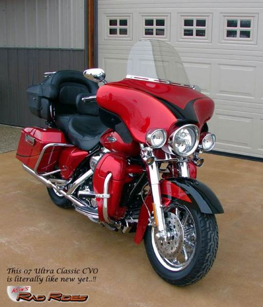 2007 Harley-Davidson Ultra Classic Electra Glide for sale at Ron's Rad Rides LLC in Elk River MN