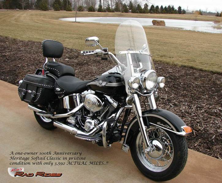 2003 Harley-Davidson 100th Anniversary Heritage for sale at Ron's Rad Rides LLC in Elk River MN