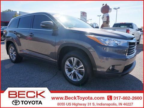2016 Toyota Highlander for sale in Indianapolis IN