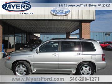 2005 Toyota Highlander for sale in Elkton, VA