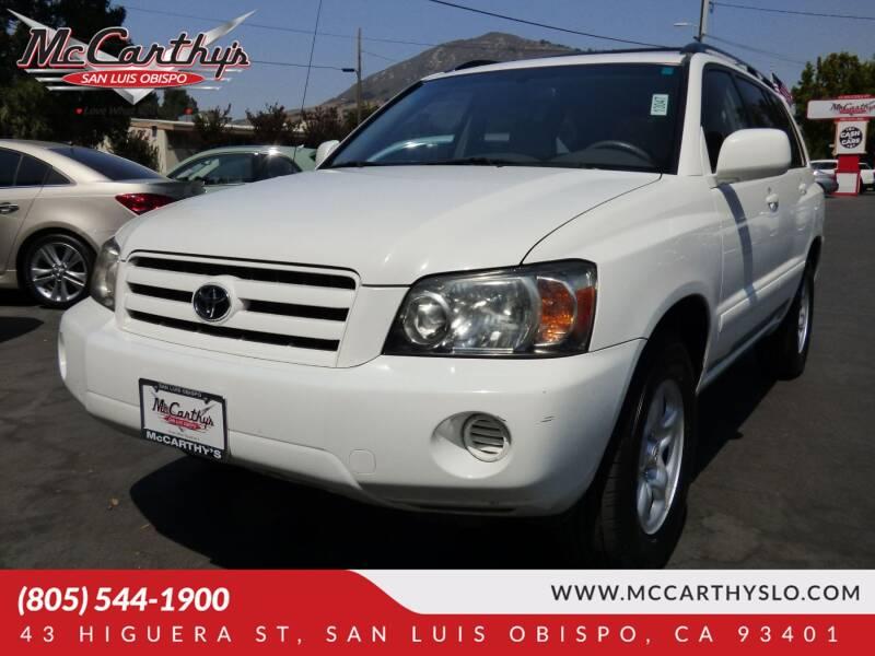 2007 Toyota Highlander for sale at McCarthy Wholesale in San Luis Obispo CA