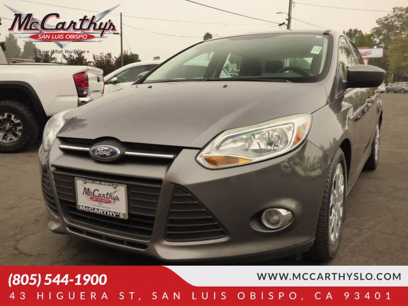 2012 Ford Focus for sale at McCarthy Wholesale in San Luis Obispo CA