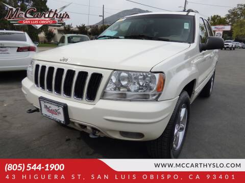 2002 Jeep Grand Cherokee for sale at McCarthy Wholesale in San Luis Obispo CA
