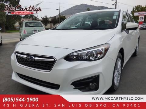 2017 Subaru Impreza for sale at McCarthy Wholesale in San Luis Obispo CA