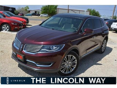 2017 Lincoln MKX for sale in Lamesa, TX